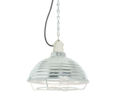 7170 Spun Ripple with Suspension Lampholder, Galvanised with Guard by Davey Lighting Limited