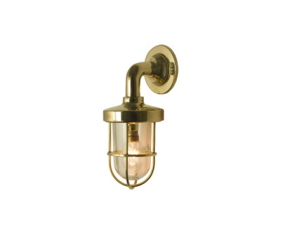 7207 Miniature Weatherproof Ship's Well Glass, Polished Brass, Clear Glass by Davey Lighting Limited