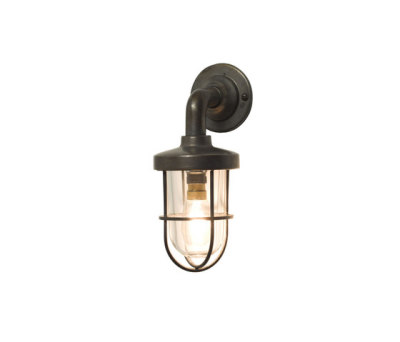 7207 Miniature Weatherproof Ship's Well Glass, Weathered Brass, Clear Glass by Davey Lighting Limited