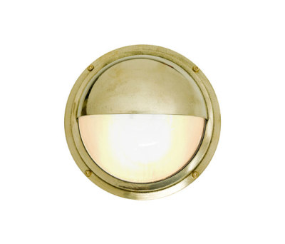 7225 Brass Bulkhead With Eyelid Shield, Polished Brass by Davey Lighting Limited
