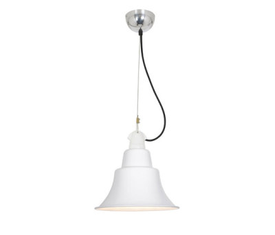 7245 Zoe Pendant, White by Davey Lighting Limited