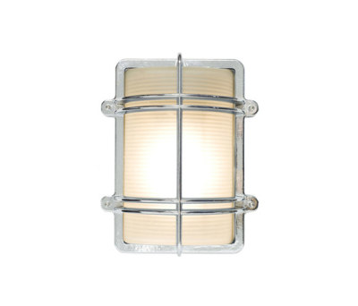 7373 Rectangular Bulkhead Fitting, Chrome Plated by Davey Lighting Limited