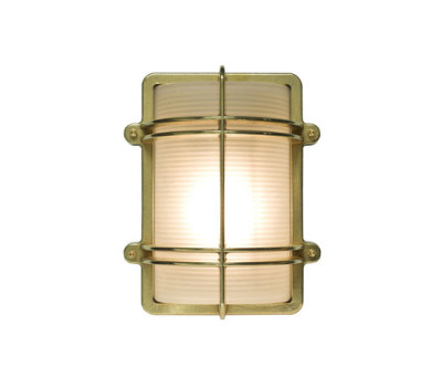 7373 Rectangular Bulkhead Fitting, Natural Brass by Davey Lighting Limited