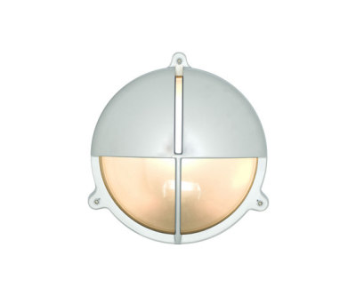 7427 Brass Bulkhead With Eyelid Shield, Large, Chrome Plated by Davey Lighting Limited