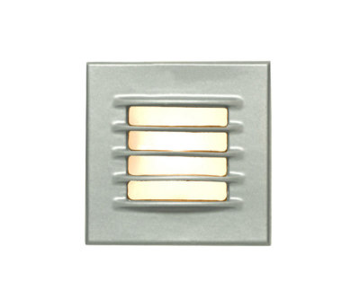 7600 Low Voltage Recessed Step Light, Painted Silver by Davey Lighting Limited