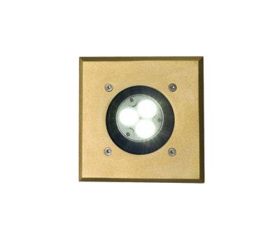 7602 Recessed Uplight, Brass, GU10 by Davey Lighting Limited