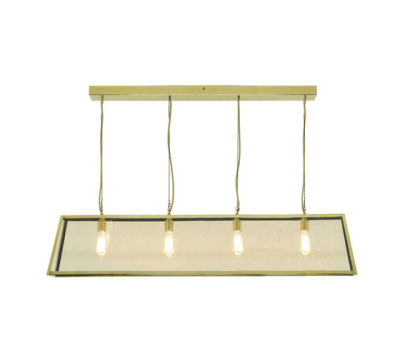 7632 Diner, Internally Glazed 125, Polished Brass, Clear Glass by Davey Lighting Limited