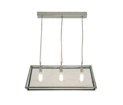 7632 Diner, Internally Glazed, 75, Satin Nickel, Clear Glass by Davey Lighting Limited