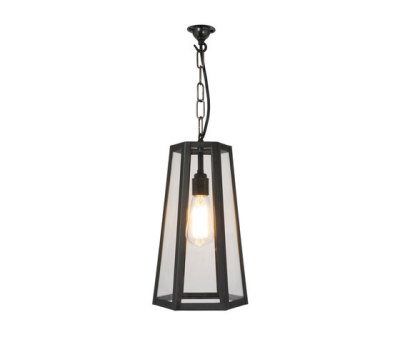 7651 Hex Pendant, Weathered Brass by Davey Lighting Limited