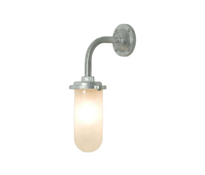 7672 Bracket Light, 60W, Round Backplate, Galvanised, Frosted Glass by Davey Lighting Limited