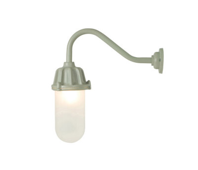 7674 Dockside Wall Light, No Reflector, Putty Grey, Frosted Glass by Davey Lighting Limited