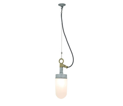 7679 Well Glass Pendant, Galvanised, Frosted Glass by Davey Lighting Limited