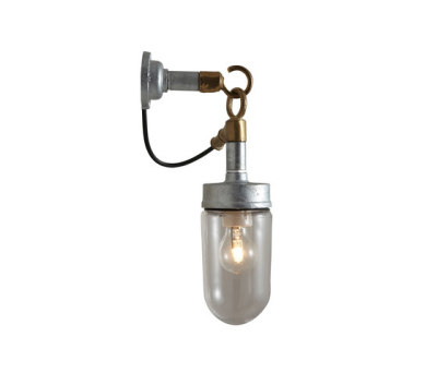 7679 Well Glass Wall Light, Galvanised, Clear Glass by Davey Lighting Limited