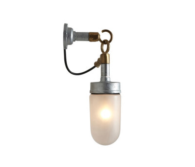7679 Well Glass Wall Light, Galvanised, Frosted Glass by Davey Lighting Limited