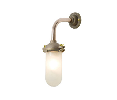 7684 Exterior Bracket Light, No Ref, Canted, Round, Gunmetal, Clear Glass by Davey Lighting Limited