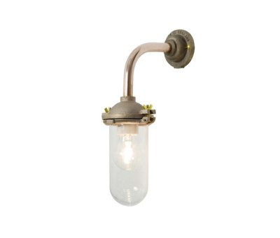 7684 Exterior Bracket Light, No Ref, Right Angle, Round, Gunmetal, Clear Glass by Davey Lighting Limited
