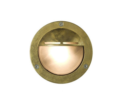 8035 Miniature Exterior Bulkhead, Eyelid Shield, G9, Brass by Davey Lighting Limited