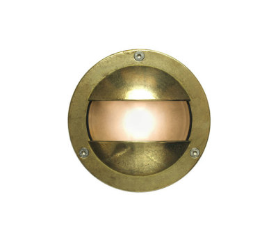 8037 Miniature Exterior Bulkhead, Double Shield, G9, Brass by Davey Lighting Limited