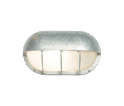 8125 Oval Aluminium Bulkhead With Eye Shield, E27, Aluminium by Davey Lighting Limited