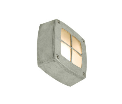8140 Wall Light Square, Cross Guard, Aluminium by Davey Lighting Limited