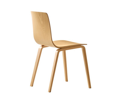 Aava Dining Chair by Arper Natural Birch