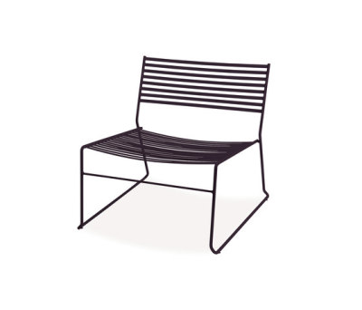 Aero lounge chair - set of 2 Black