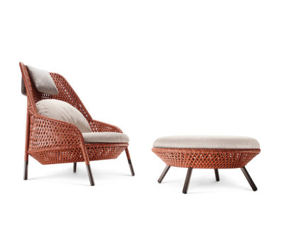 Ahnda Wing chair & Footstool by DEDON