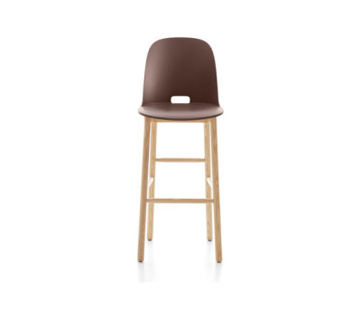 Alfi Barstool high back Dark Brown
