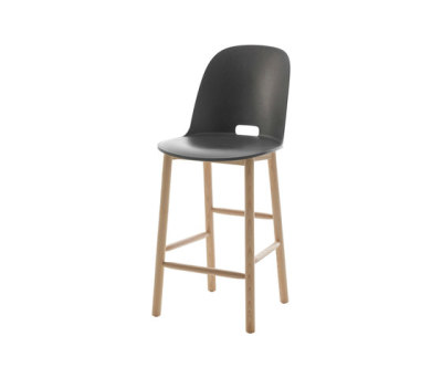 Alfi Counter stool high back Dark Grey