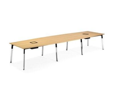 Angle conference table by Materia