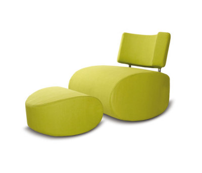 Apollo chair with pouf by Softline A/S