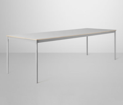 Base Table | large Grey/Grey Laminate/Plywood