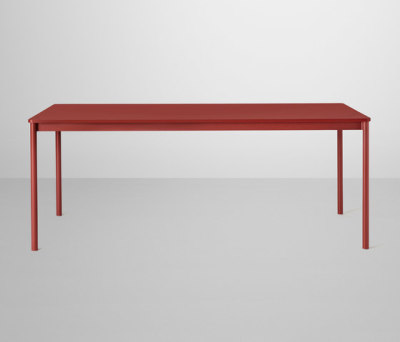 Base Table | medium Red/Dusty Red Laminate/ABS