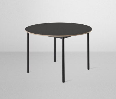 Base Table | round Black/Black Linoleum/Plywood