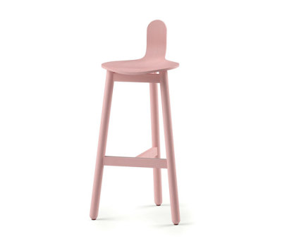 Beech Bar Stool 75 low by DUM