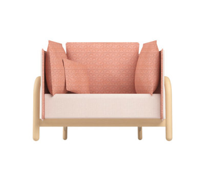 Beech Private Loveseat low by DUM