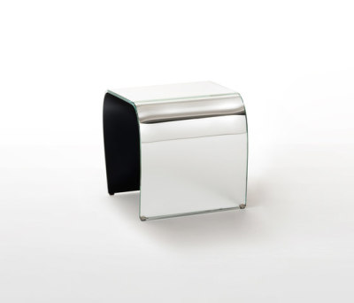 Bent Glass Stool by Glas Italia