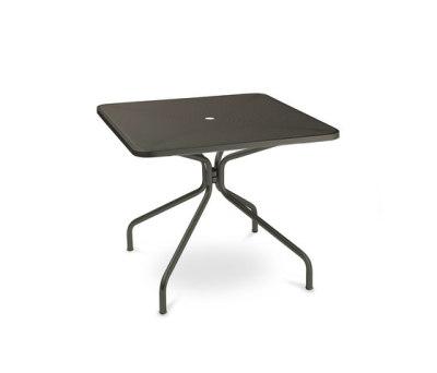 Cambi square table; 90cm top Black