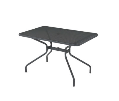 Cambi rectangular table;120x80cm top Black