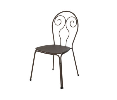 Caprera chair - set of 4 Black