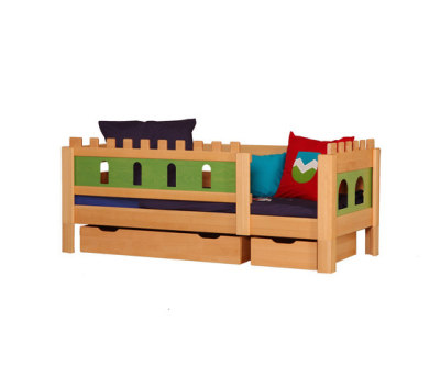 Castle Knight bed with drawers DBA-208.7 by De Breuyn