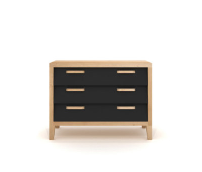 Chest 60'S - 3 Drawers - Black