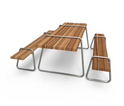 Clip-board picnic 220 | bench & table by Lonc