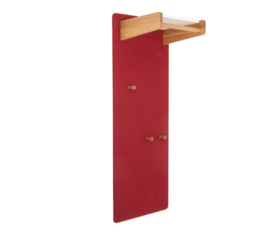 Coat rack panel with a shelve for hats, narrow DBV-293 by De Breuyn