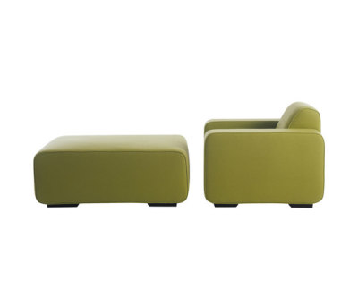 Cream Armchair | Pouf by Palau