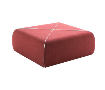 CROSSED Pouf square large by B-LINE
