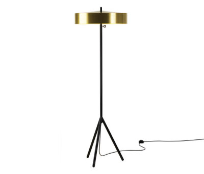 Cymbal 46 floorlamp brass colour by Bsweden