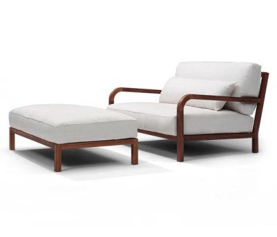 Dario armchair/footstool by Linteloo