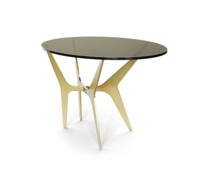 DEAN Oval Side Table - Brass by Gabriel Scott