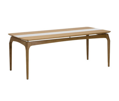 Dining Table 190 cm Oak Top and Corian by Red Edition